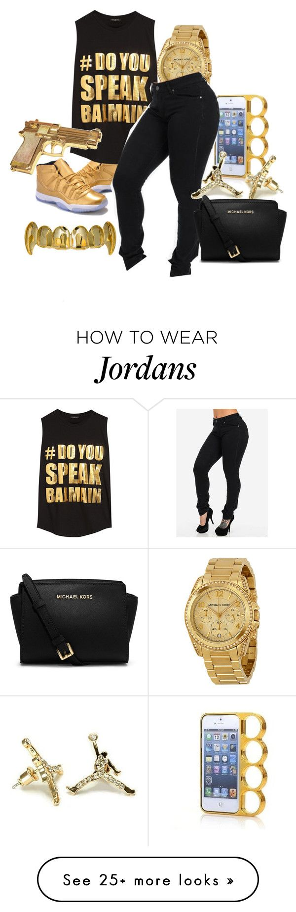 """""""Untitled #124"""" by dejanique-783 on Polyvore featuring Michael Kors, Balmain, Rock Rebel and MICHAEL Michael Kors"""