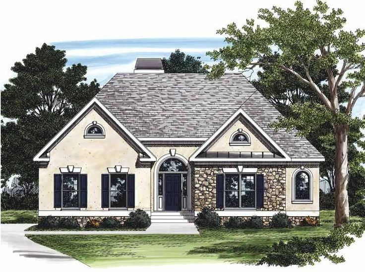 Eplans cottage house plan stucco and stone 1688 square for Eplans cottage house plan