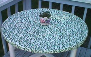 Fitted Table Cloth With Elastic