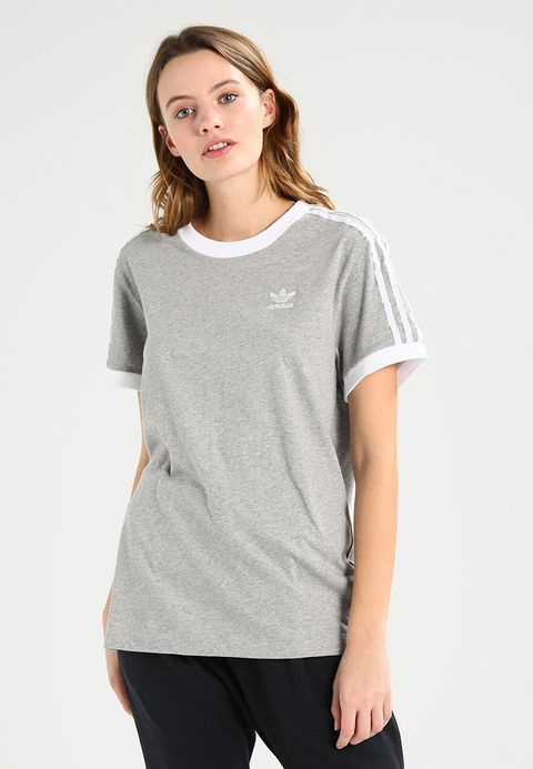 d06fe142 adidas Originals ADICOLOR THREE STRIPES TEE - Print T-shirt - medium grey  heather - Zalando.co.uk
