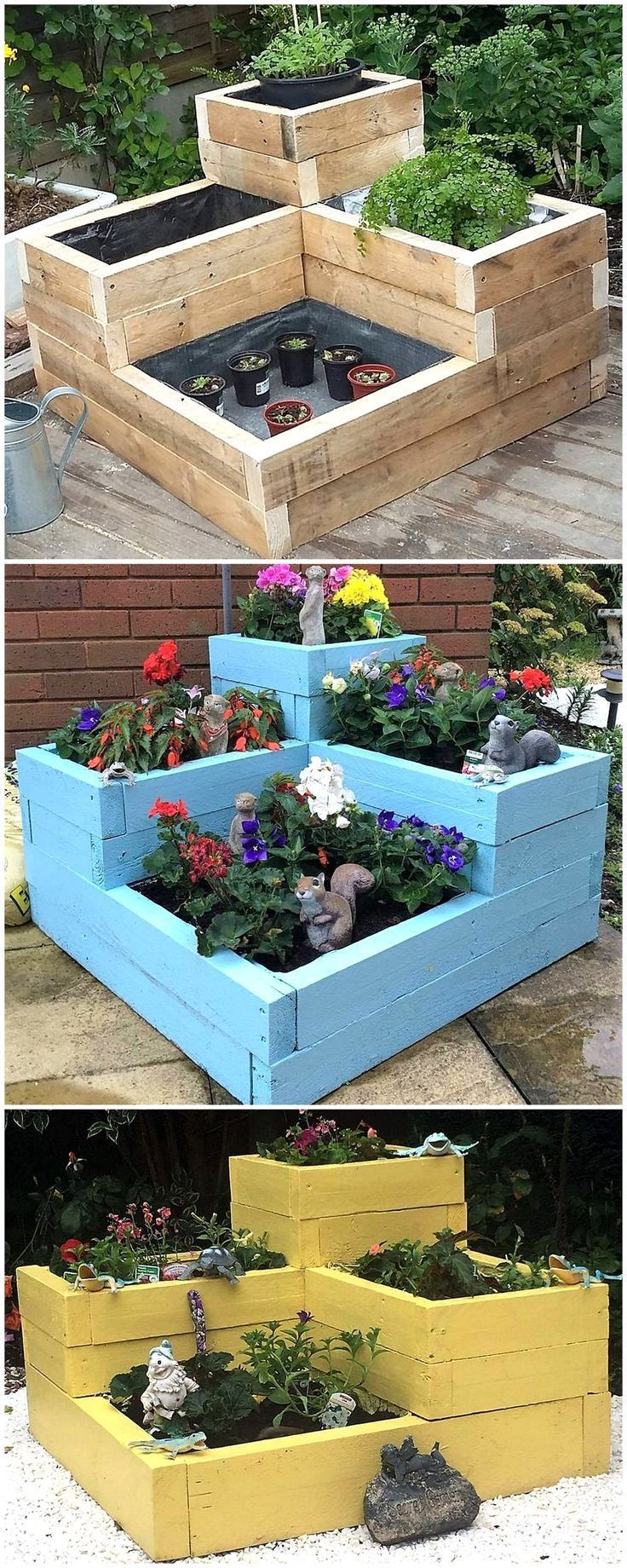Repurposed Wooden Pallet Planters Plant Pot Ideas Pallet Wooden