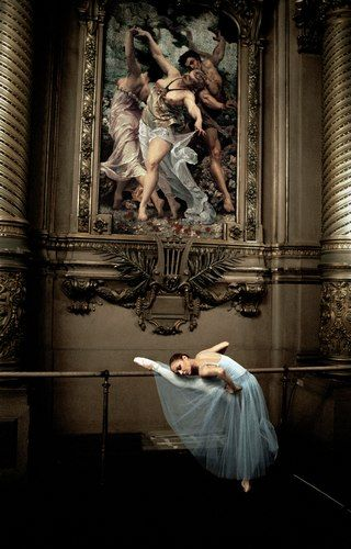 A dancer in one of the Paris Opera Ballets grand spaces    Photo  & courtesy of Grard Ufras