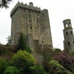 Blarney Castle, Ireland.  Yes, I did kiss the Blarney Stone and it was pretty scary.  You have to tramp up to the roof of that tower, lie on your back and bend backwards so you're hanging over a gap between the floor and the wall to kiss the stone. I was only 10, and I've never stopped talking since.