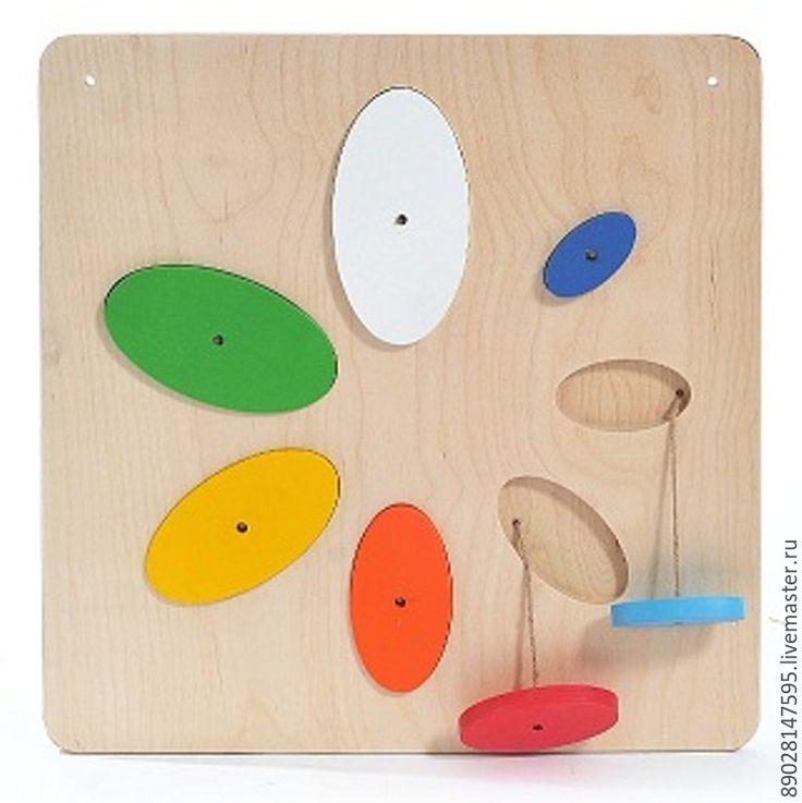 """Купить Панель """"Цветик-семицветик"""" - разноцветный, пано, панель, тактильное развитие, игрушка ручной работы"""