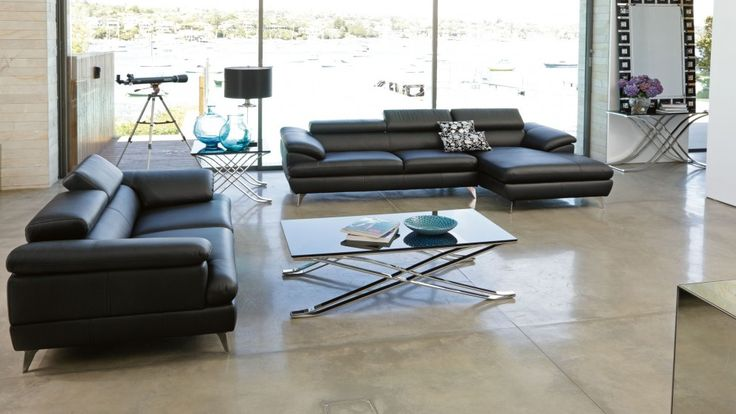 Boston 2 piece leather lounge suite lounges living for Outdoor furniture harvey norman