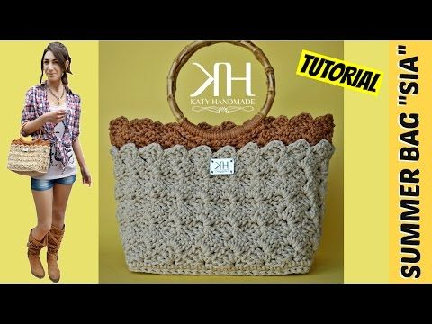 "TUTORIAL BORSA ESTIVA UNCINETTO ""Sia"" - PUNTO PRADA 