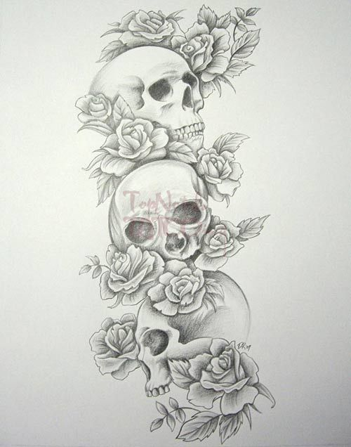 i think it would be a cool forearm  tattoo and have the skulls do the hear no evil, speak no evil, see no evil