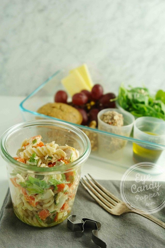 Meatless Monday Special Lunch Edition: Tuna pasta salad.