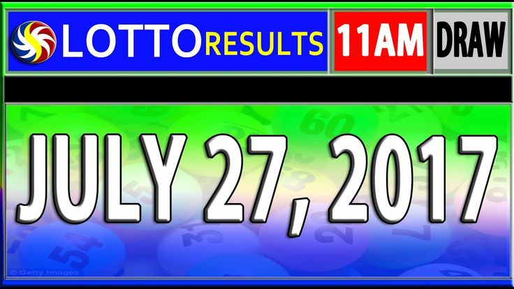PCSO 11AM LOTTO RESULTS TODAY | JULY 27, 2017 (SWERTRES & EZ2 LOTTO)