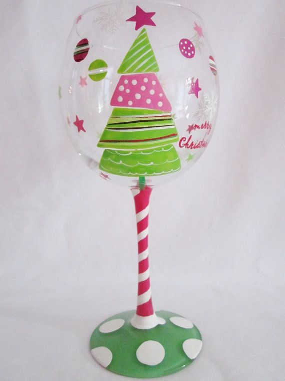 479 best crafts painted glass images on pinterest for Christmas painted wine glasses pinterest