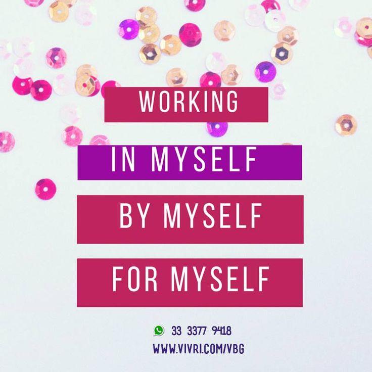 Estoy trabajando en mí, por mí y para mí ¿tu qué vas a hacer por ti hoy?  #motivation #motivacion #workinginmyself #workingformyself