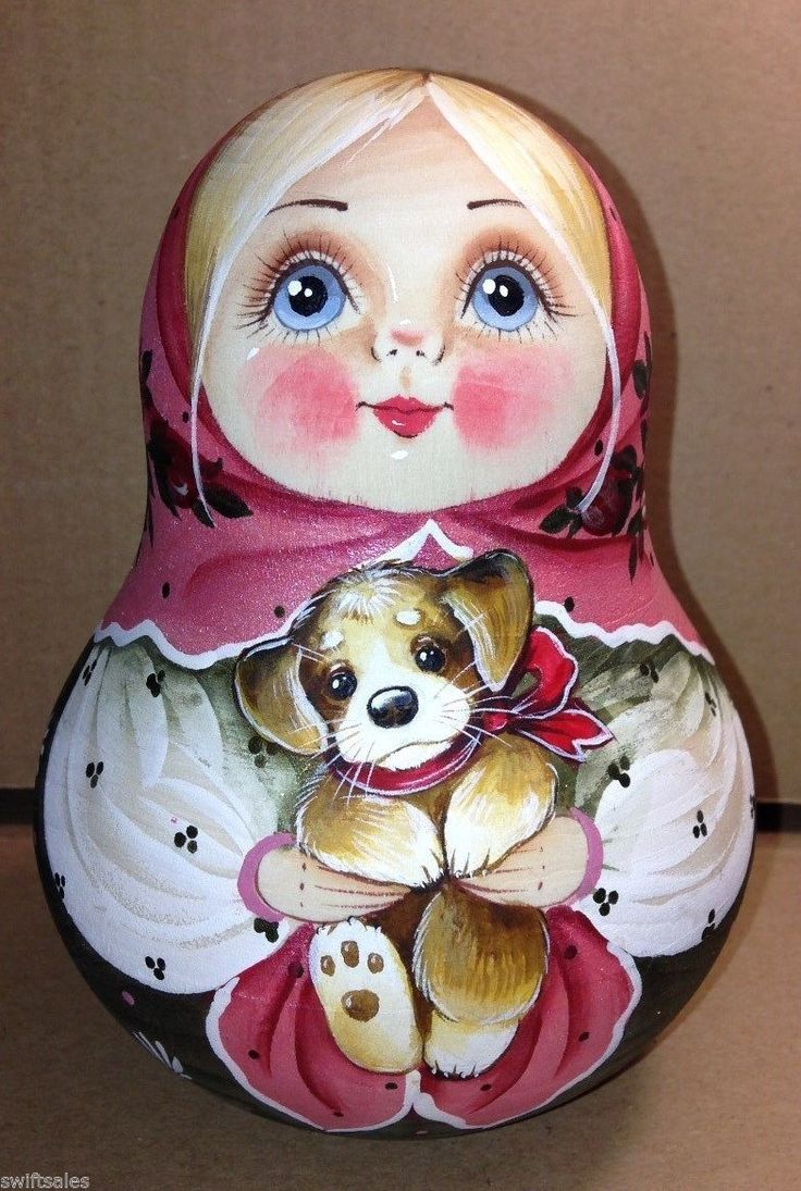 Russian Wooden Rolly Polly Bell Doll - Russian Matryoshka Nevolyashka #1 | eBay