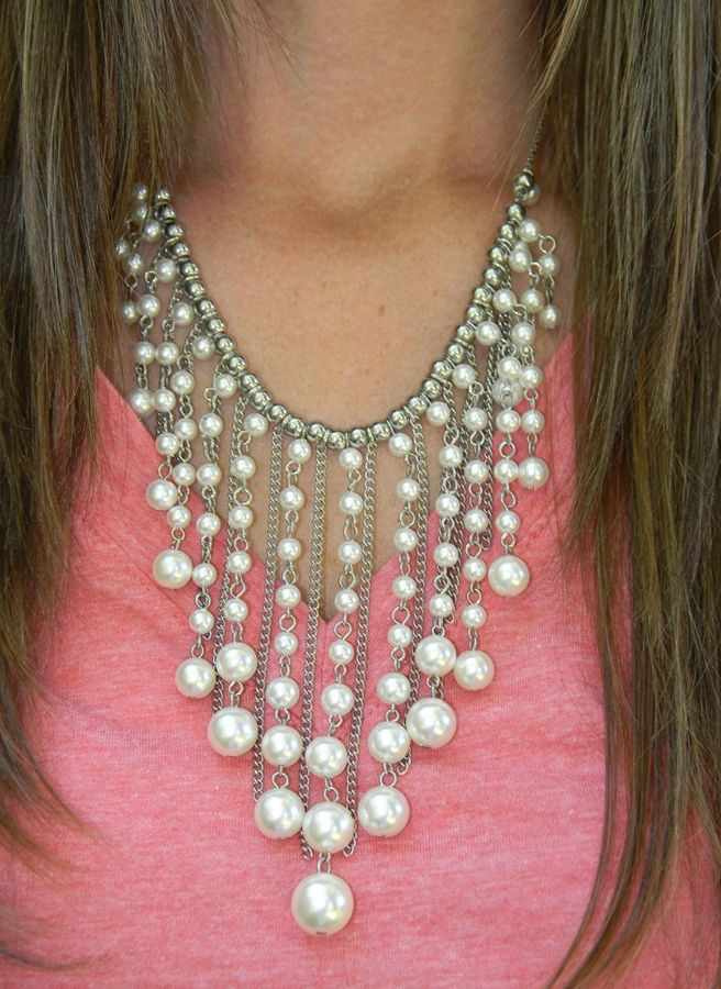Stunning Waterfall Pearl Necklace