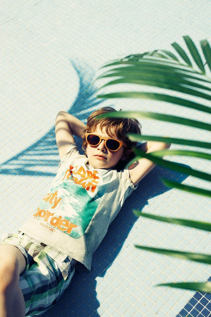 Nice picture of boy model for showing summer clothes - by Mango kidsfashion from spain