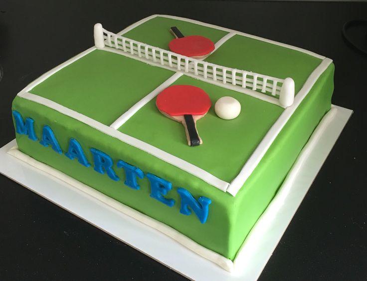 Tafel tennis taart, juli 2016