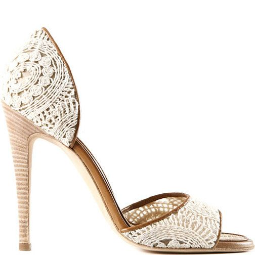 Manolo blahnik. crocheted sandal. not enough time in the world to wear all the shoes i want to.