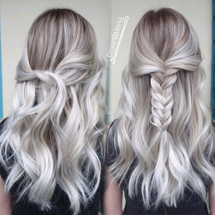 Platinum White Blonde Balayage Outfit Pinterest Blonde