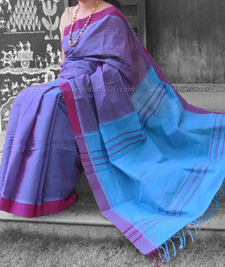 Elegant Kanchi Cotton Saree – India1001.com