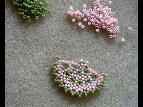 Beaded Fan Earrings Part 1 by Eva Maria Keiser.. (part 2 here: https://www.youtube.com/watch?v=eubW-hPWbzc )   ~ Seed Bead Tutorials