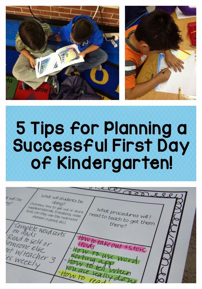 Ideas for planning the first day of Kindergarten, and a downloadable planning sheet!