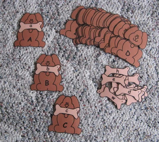 Bow-wow-wow-wow what a fun way to learn upper and lower case letters. Give the dog his bone and complete the whole set!