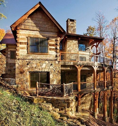552 best images about amazing log homes on pinterest for Log and stone homes