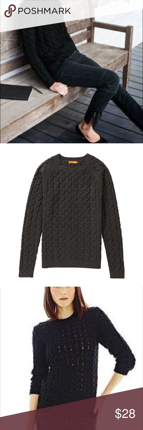 Joe Fresh cable open weave sweater! Light and fluffy Joe Fresh open weave cable scoop neck sweater! Size Large; 100% acrylic. No damage or stains. Pet free, smoke free home. Joe Fresh Sweaters Crew & Scoop Necks