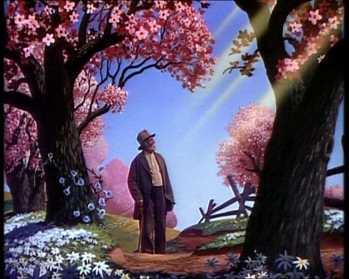 Movie - Song of the South (1946)/ Something charming about this picture, as if God's rays are blessing the old man.