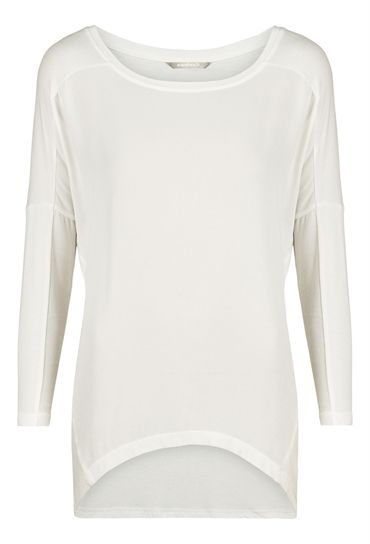 Sandwich Drapey Jersey T Shirt - Off White £69 at www.lbdboutique.co.uk style number 1521510037