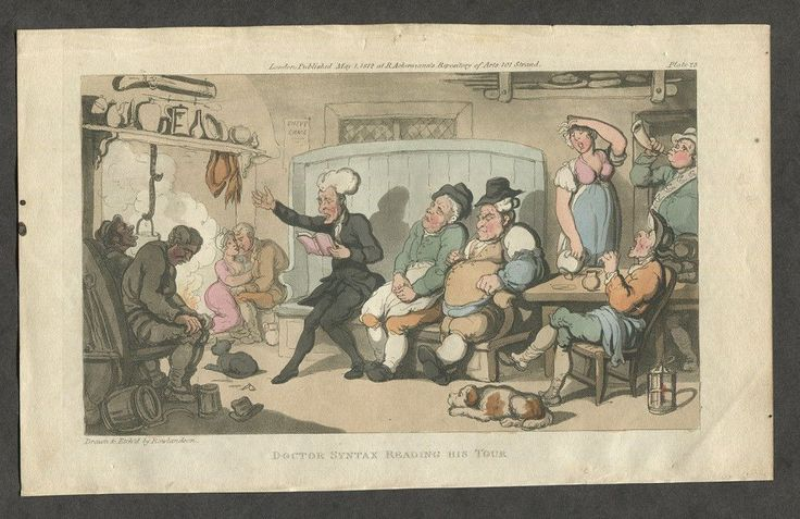 C1820 Antique English Caricature Print by Thomas Rowlandson Doctor Syntax B | eBay