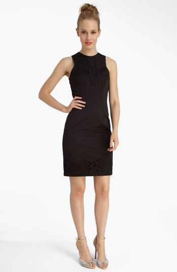 Catherine Catherine Malandrino 'Alexis' Lace Cutout Shift Dress available at #Nordstrom. Great little black dress with detail.