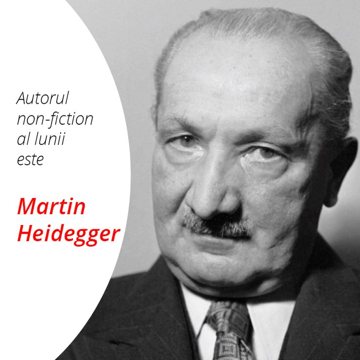 Autorul de non-ficțiune al lunii septembrie 2016 este Martin Heidegger.