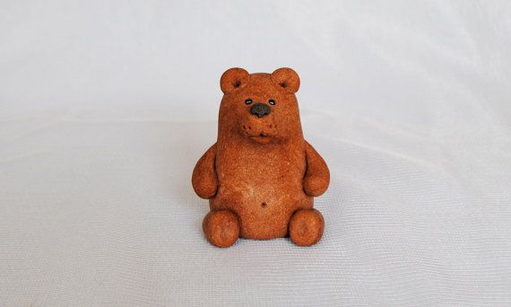 1990s OOAK Vintage Bear figurine, Brown bear, Bear statue, Bear statues, Bear sculpture, Bear #decor, Fireplace mantel…