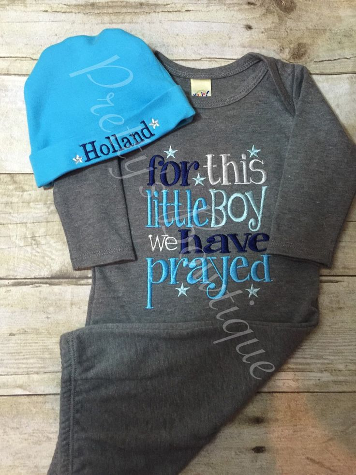 FOR this Little BOY I or WE have Prayed gown and hat •••sale price••• by PrettysBowtique on Etsy https://www.etsy.com/listing/214463532/for-this-little-boy-i-or-we-have-prayed