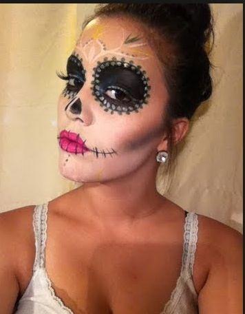 Sugar skull makeup simple