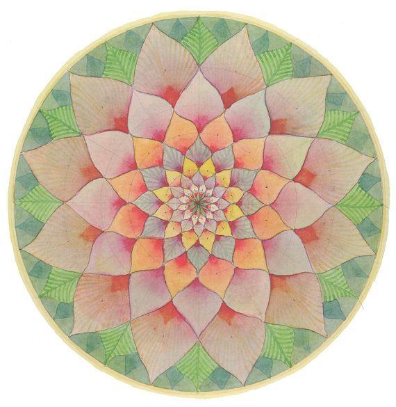 ∻ Harmony Mandala Drawing Print ∻