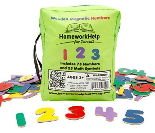 Classic Collection of Wooden, Magnetic Numbers & Math Symbols - 75 Numbers & 25 Math Symbols - Great for Preschool Reading and Writing Numbers - Learn to Solve Simple Math Problems with This Durable, Brightly- Colored Early Learning, Educational Toy! Homework Help For Parents http://www.amazon.com/dp/B00ZQFYE60/ref=cm_sw_r_pi_dp_E6gTwb0GJTZYC