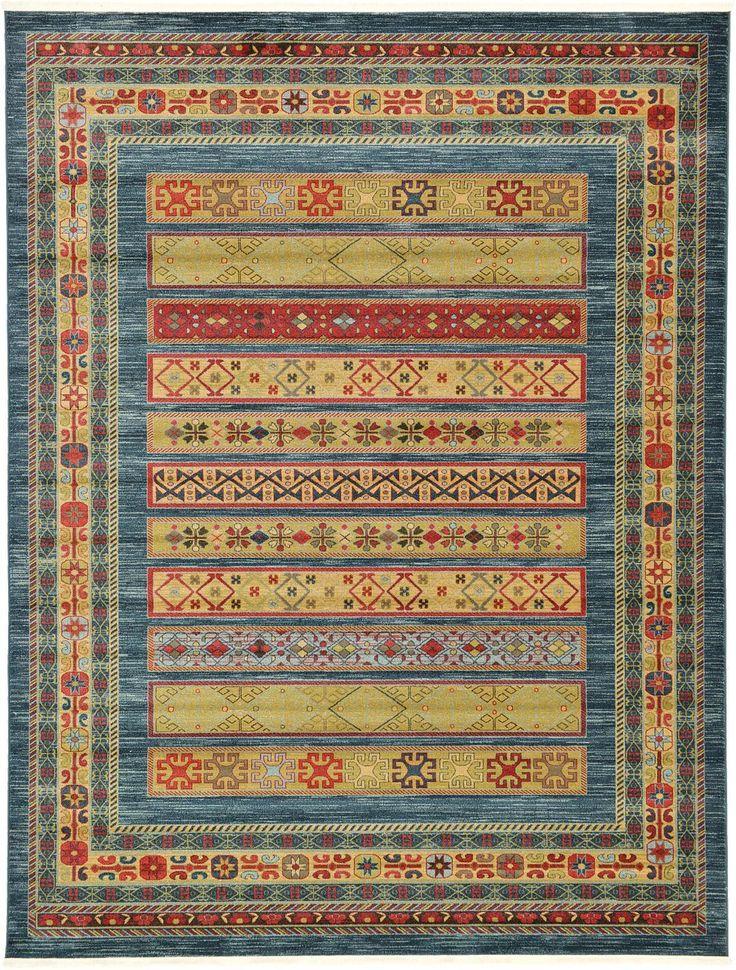 Blue 9' x 12' Kashkuli Gabbeh Rug | Area Rugs | eSaleRugs