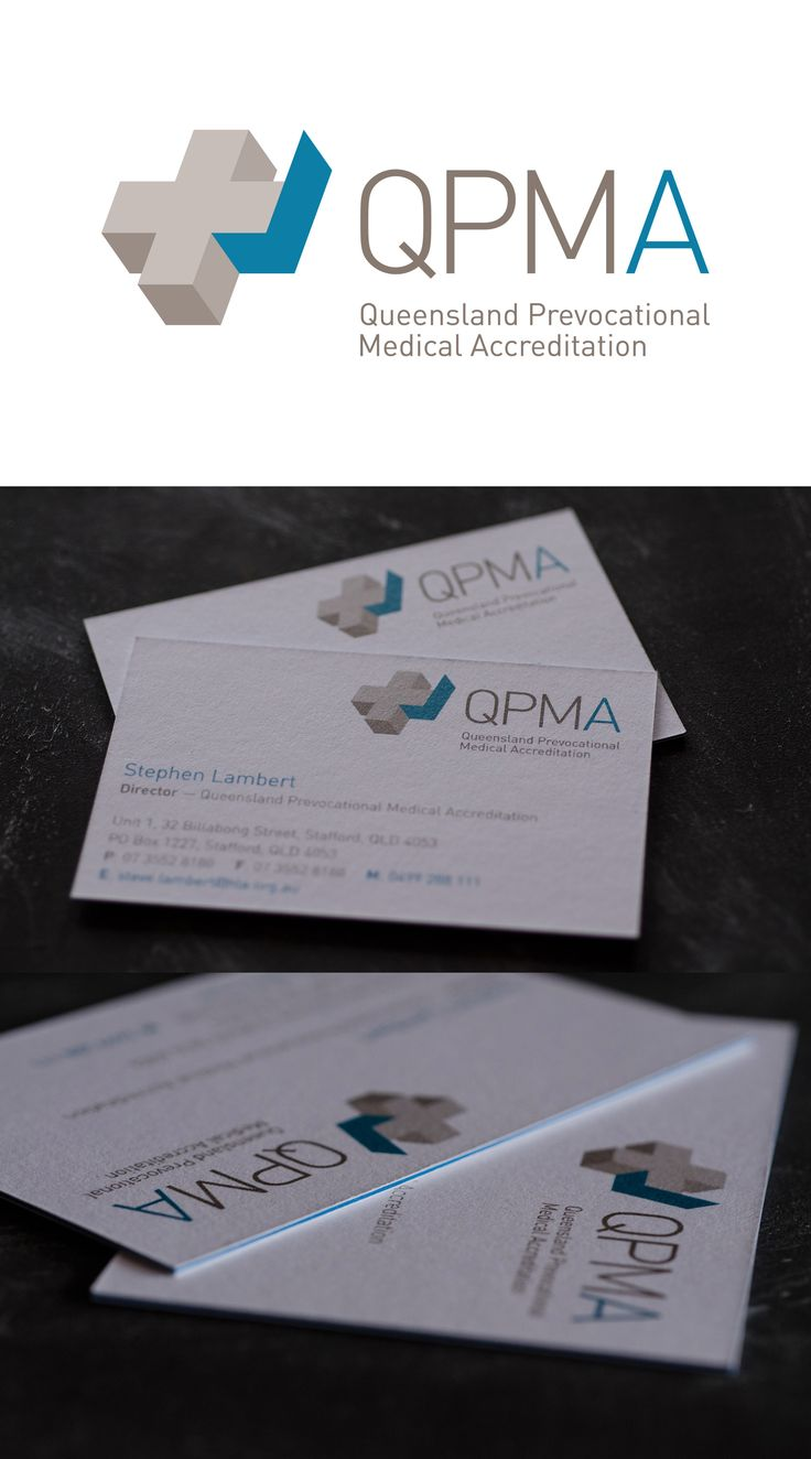 Logo design for medical accreditation company. Business cards by moo. #hospital #tick #cross