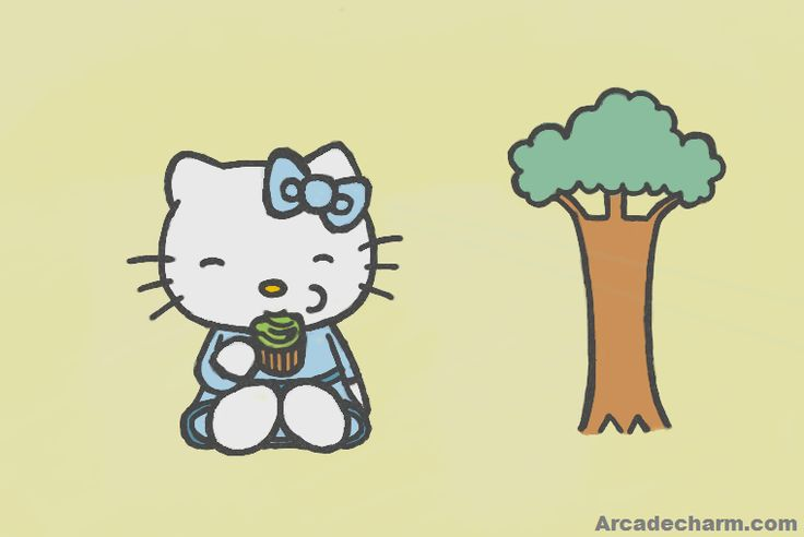 Hello Kitty Eating Cupcake Sliding Puzzle