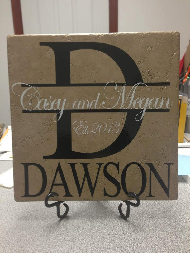 Day Of Wedding Gift Ideas : Personalized Tile Last Name Tile Decorative Custom Tile canvas ...