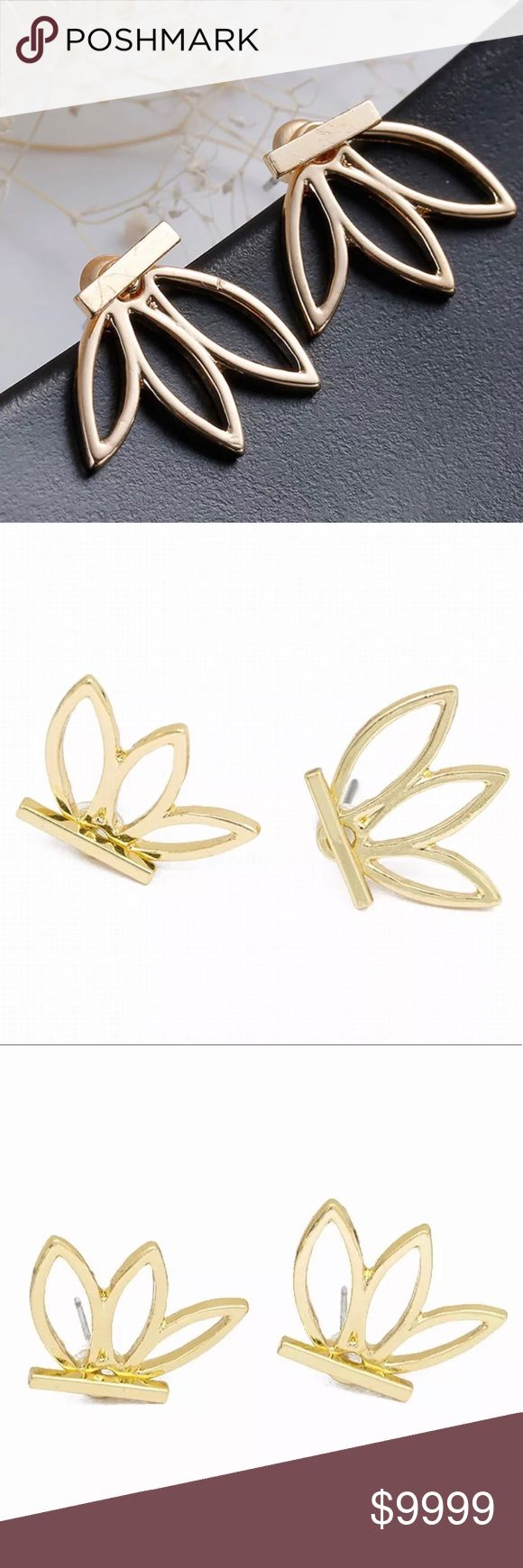 "🔜Gold Lotus Jacket Stud Earrings! Coming Soon! ""Like"" Listing to be Notified Of Arrival! On Trend, Lotus Flower; Wear multiple ways! Studs, Flower in front or in back of earlobe; Popular style few years in a row now! Available in Silver as well!  *NO TRADES *Prices are FIRM-Listed at Lowest Price Unless BUNDLED! *Sales are Final-Please Read Descriptions! gallery_of_gems Jewelry Earrings"