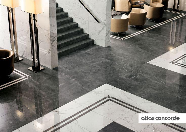 #MARVEL calacatta and grey   #AtlasConcorde   #Tiles   #Ceramic   #PorcelainTiles