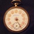 A. N. Anderson Hamilton RR Pocket Watch  w/ porcelain face