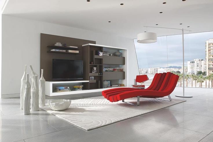 Relaxmöbel für Wohnzimmer Chaiselongue Nguni in Tierfell Optik