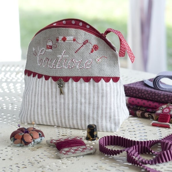 """Trousse ronde """"Couture"""""""