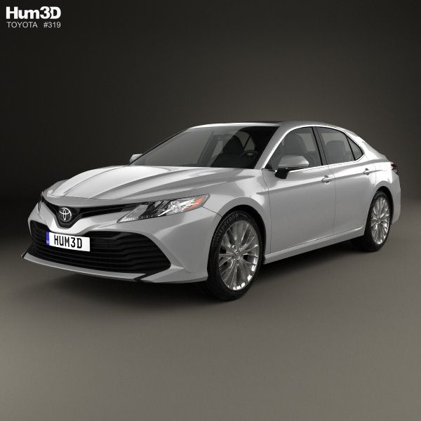 Toyota Camry XLE Hybrid 2017 3d Model From Hum3D.com