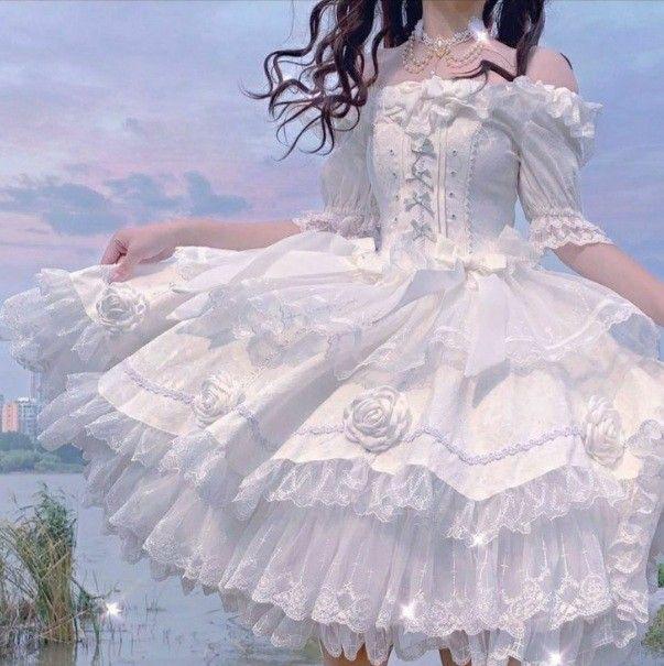 فساتين بنات كيوت En 2021 Robe Kawaii Robe Fantaisie Robes De Bal Princesse