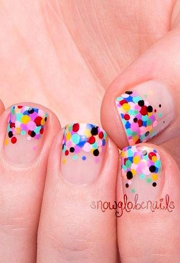 Polka-dotted tips!