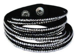Velvet wrap bracelet with Rhinestones